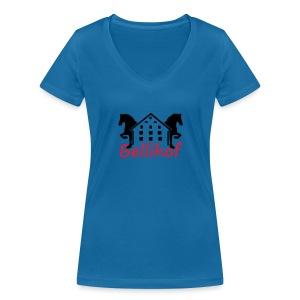 Bellihof Cap rot - Frauen Bio-T-Shirt mit V-Ausschnitt von Stanley & Stella