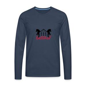 Bellihof Cap rot - Männer Premium Langarmshirt