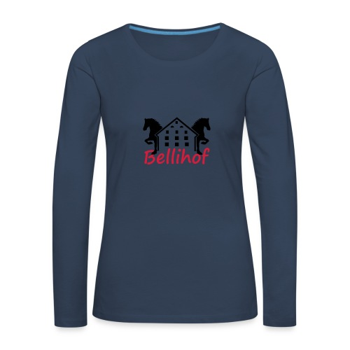 Bellihof Cap rot - Frauen Premium Langarmshirt