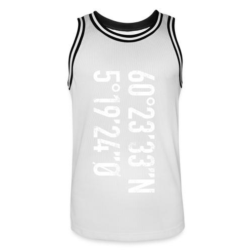 Bergen koordinater - Basketballdrakt for menn
