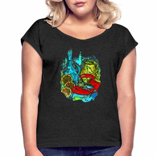 Tasche Juliane - Frauen T-Shirt mit gerollten Ärmeln