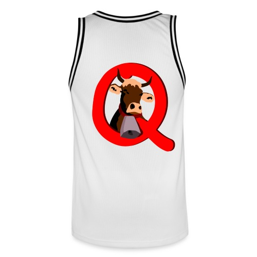 Q=Kuh - Männer Basketball-Trikot
