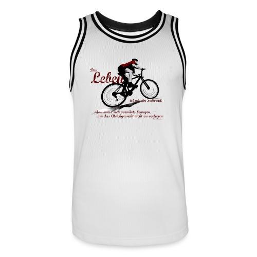 Mountainbike ist Leben - Männer Basketball-Trikot