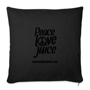 Peace Love Juice Recycled Bag - Sofa pillow cover 44 x 44 cm