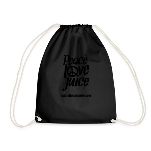 Peace Love Juice Recycled Bag - Drawstring Bag