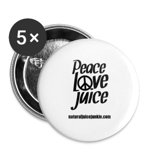 Peace Love Juice Recycled Bag - Buttons medium 32 mm