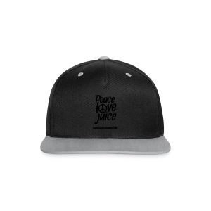 Peace Love Juice Recycled Bag - Contrast Snapback Cap