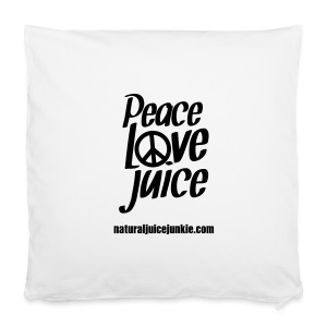 Peace Love Juice Recycled Bag - Pillowcase 40 x 40 cm