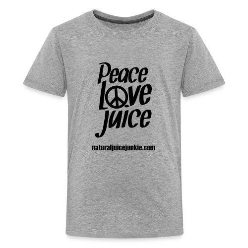 Peace Love Juice - Women's Long Sleeve - Teenage Premium T-Shirt