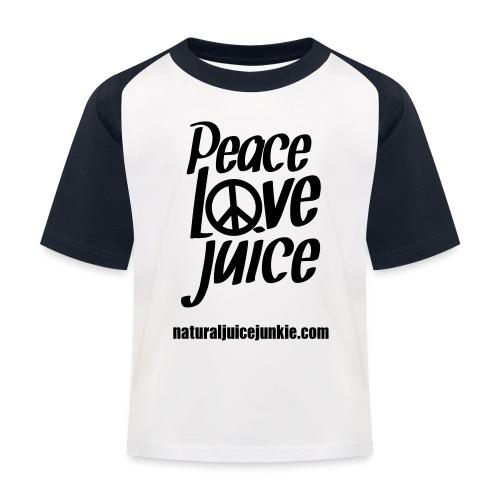 Peace Love Juice - Women's Long Sleeve - Kids' Baseball T-Shirt