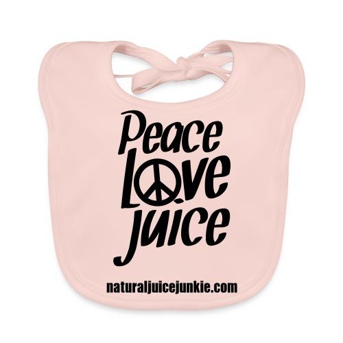 Peace Love Juice - Men's Tee - Baby Organic Bib