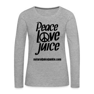 Peace Love Juice - Men's Tee - Women's Premium Longsleeve Shirt