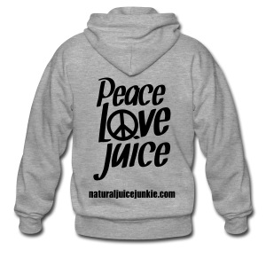 Peace Love Juice - Men's Tee - Men's Premium Hooded Jacket