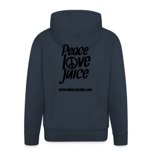 Peace Love Juice (white) - Men's Tee - Men's Premium Hooded Jacket