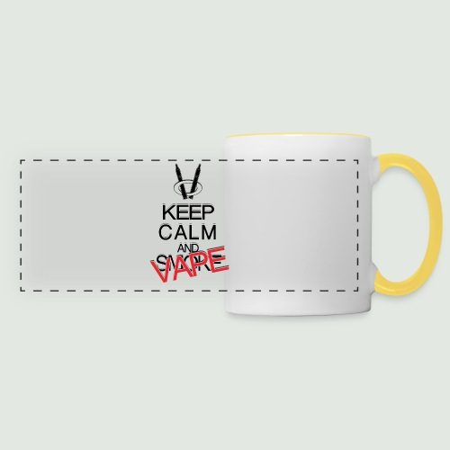 keep calm and vape - Mug panoramique contrasté et blanc