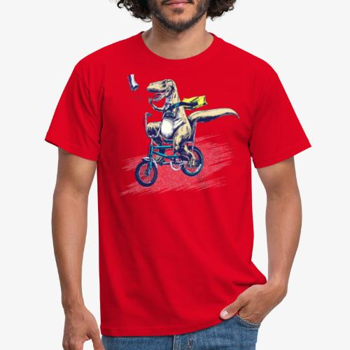 T Rex PaperBoy Blue - Men's T-Shirt
