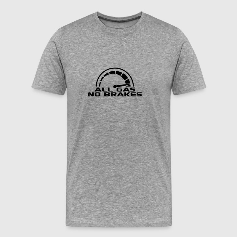 All gas No. brakes speedometer quick Turbo T-Shirts - Men's Premium T-Shirt