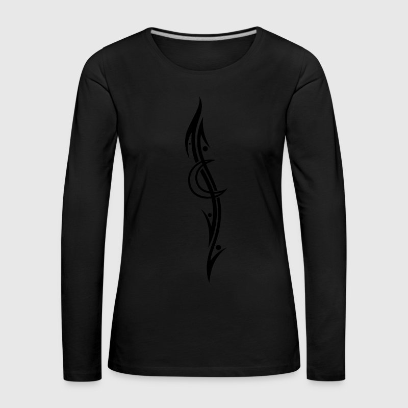 Mond Tribal, moon tattoo Long Sleeve Shirts - Women's Premium Longsleeve Shirt