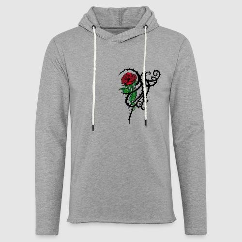 Red Rose - Leichtes Kapuzensweatshirt Unisex