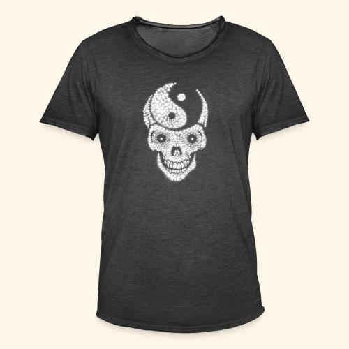 Totenschädel Damien - Männer Vintage T-Shirt