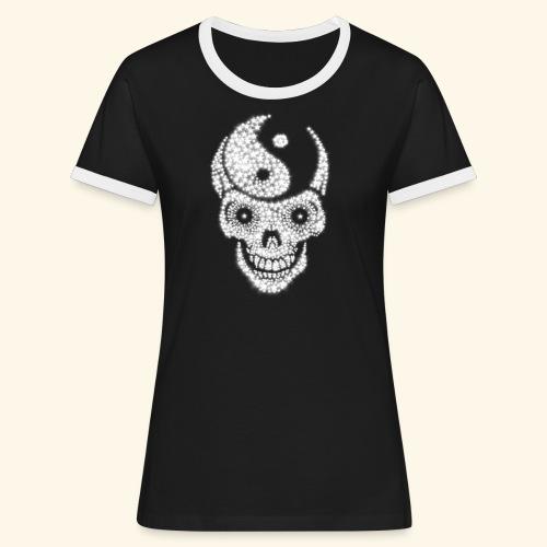 Totenschädel Damien - Frauen Kontrast-T-Shirt
