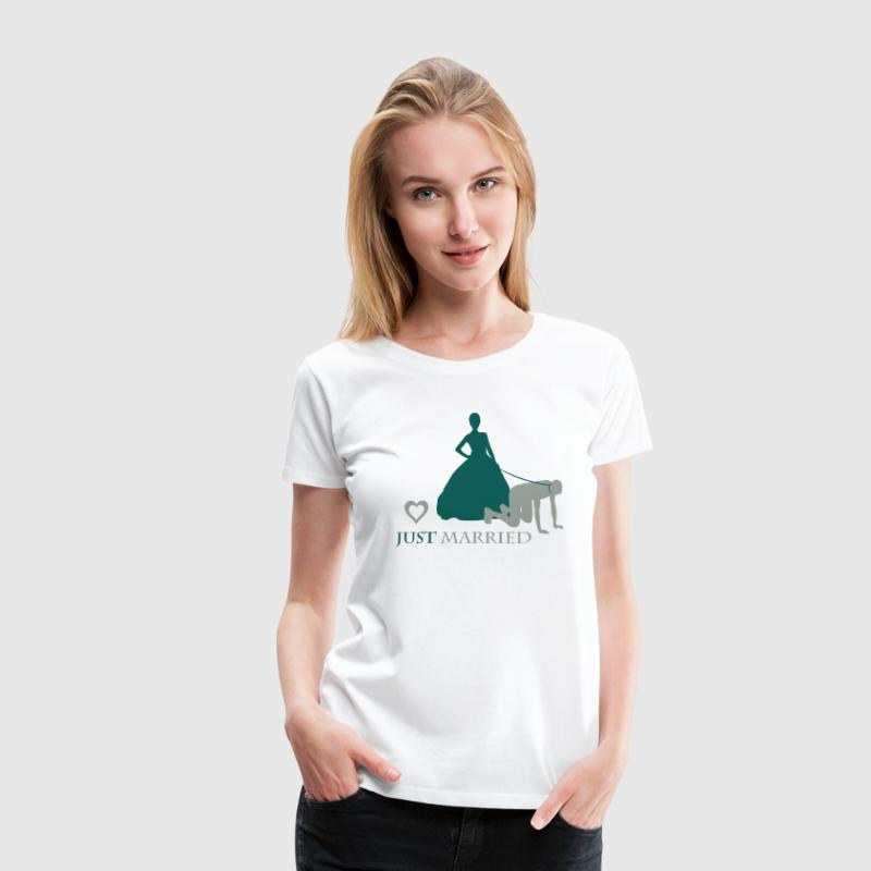 Mari de la femme en laisse Tee shirts - T-shirt Premium Femme