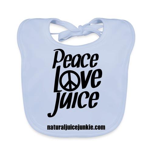 Peace Love Juice Apron - Baby Organic Bib