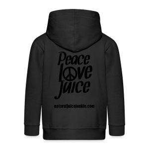 Peace Love Juice Apron - Kids' Premium Zip Hoodie