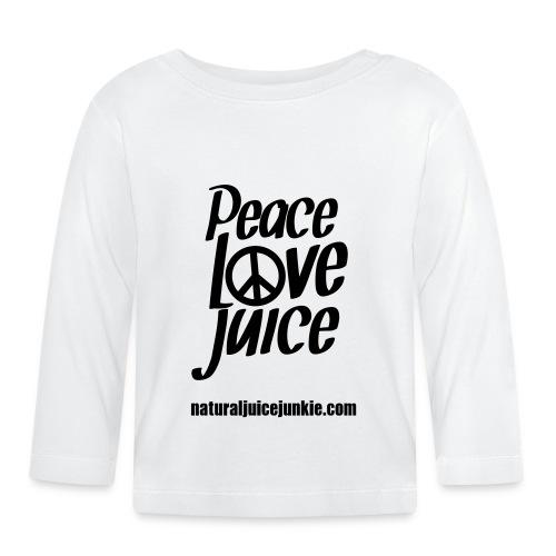 Peace Love Juice Apron - Baby Long Sleeve T-Shirt