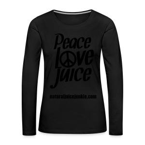 Peace Love Juice Apron - Women's Premium Longsleeve Shirt