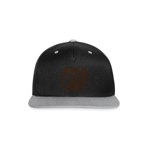 Juice On Apron (blue print) - Contrast Snapback Cap