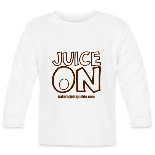 Juice On Apron (blue print) - Baby Long Sleeve T-Shirt