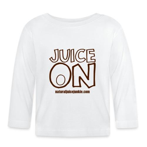 Juice On Apron (blue print) - Baby Long Sleeve T-Shirt