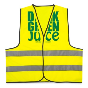 Drink Green Juice - Men's Tee (white print) - Reflective Vest