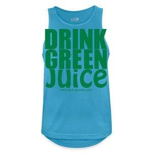 Drink Green Juice - Men's Tee (white print) - Men's Breathable Tank Top