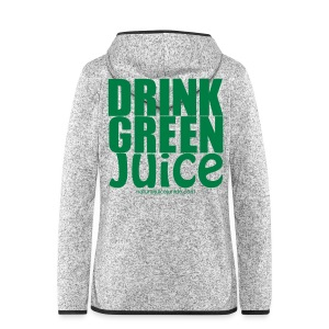 Drink Green Juice - Women's Tank Top - Women's Hooded Fleece Jacket
