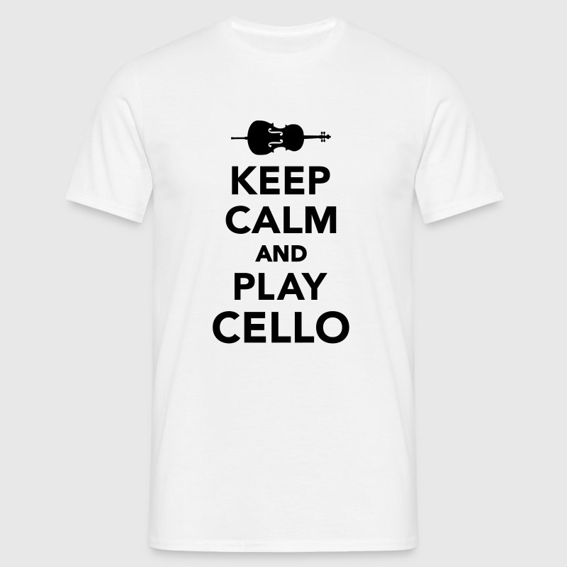 Keep calm and play Cello T-Shirts - Männer T-Shirt