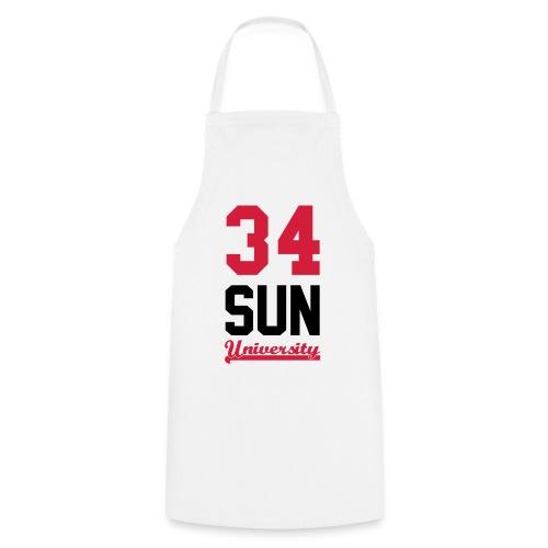 Tee shirt homme 34 Sun Universirty marquage Black and blue Neon - Tablier de cuisine