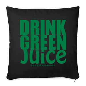 Drink Green Juice Recycled Shoulder Bag - Sofa pillow cover 44 x 44 cm