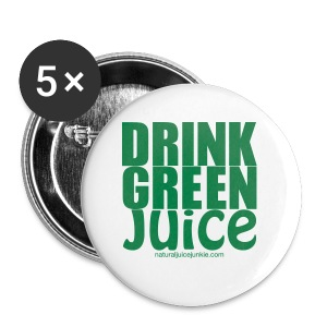 Drink Green Juice Recycled Shoulder Bag - Buttons large 56 mm