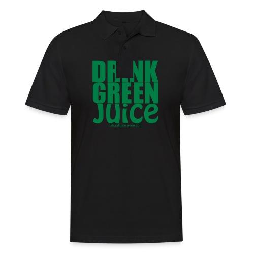 Drink Green Juice Recycled Shoulder Bag - Men's Polo Shirt