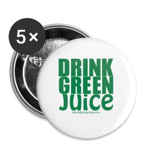 Drink Green Juice Recycled Shoulder Bag - Buttons medium 32 mm