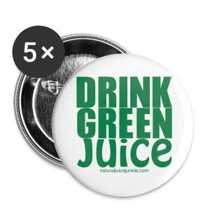 Drink Green Juice Recycled Shoulder Bag - Buttons small 25 mm