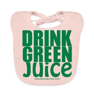 Drink Green Juice Recycled Shoulder Bag - Baby Organic Bib
