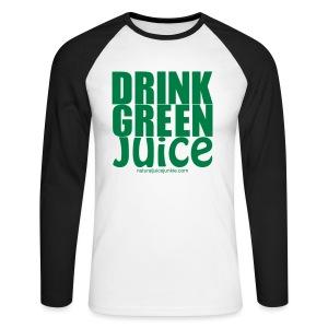 Drink Green Juice Recycled Shoulder Bag - Men's Long Sleeve Baseball T-Shirt