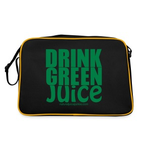 Drink Green Juice Recycled Shoulder Bag - Retro Bag