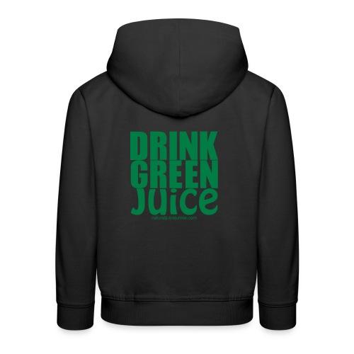 Drink Green Juice Recycled Shoulder Bag - Kids' Premium Hoodie