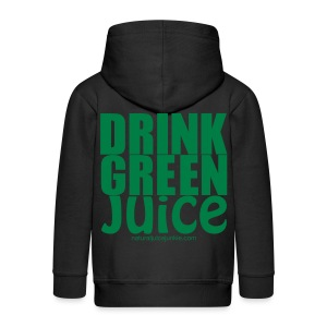 Drink Green Juice Recycled Shoulder Bag - Kids' Premium Zip Hoodie
