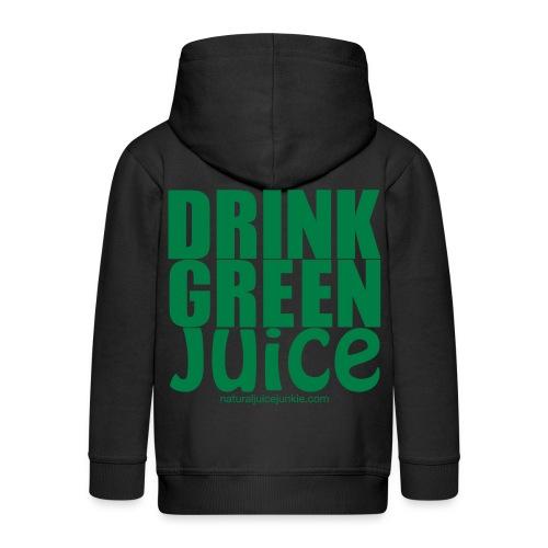 Drink Green Juice Recycled Shoulder Bag - Kids' Premium Zip Hoodie