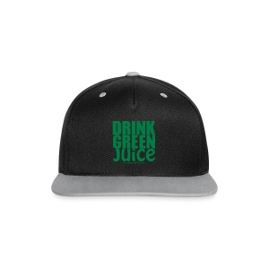 Drink Green Juice Recycled Shoulder Bag - Contrast Snapback Cap